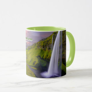 Waterfall Landscape Find Comfort in Nature Custom Mug