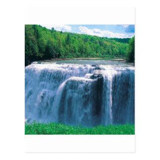 Waterfall Letchworth State Park New York Postcard