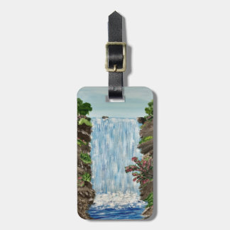 Waterfall Luggage Tag personalized
