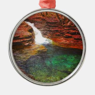Waterfall Metal Ornament