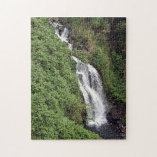 Waterfall Near Hilo, Hawaii Jigsaw Puzzle