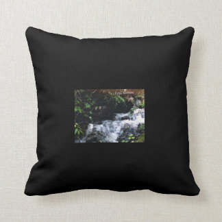 Waterfall Of Big Snowbird Throw Pillow