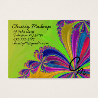 waterfall of ribbon business card