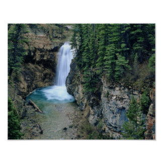 Waterfall on Falls Creek in Lewis and Clark Poster