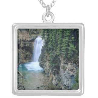 Waterfall on Falls Creek in Lewis and Clark Silver Plated Necklace