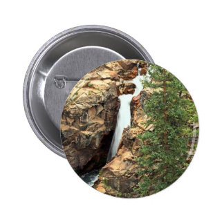 Waterfall on the Gothic Trails Colorado Pinback Button
