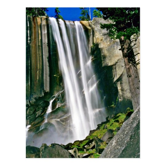 Waterfall Over Rock Cliffs Postcard