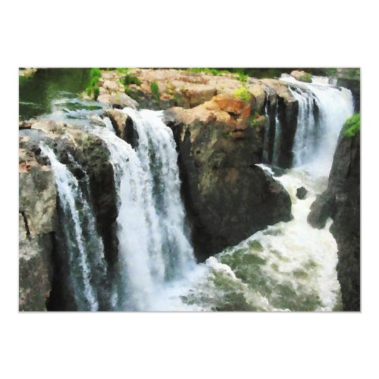Waterfall Paterson NJ Card