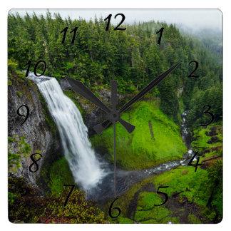 Waterfall photo wall clock