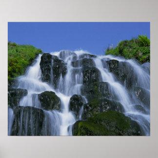 Waterfall, Portree, Isle of Skye, Highlands, Poster