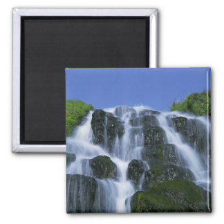 Waterfall, Portree, Isle of Skye, Highlands, Square Magnet