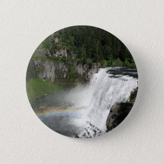 Waterfall Rainbow 2 Inch Round Button
