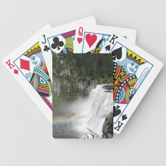 Waterfall Rainbow Bicycle Playing Cards