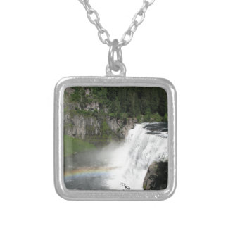 Waterfall Rainbow Silver Plated Necklace