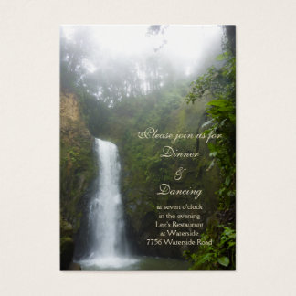Waterfall Reception Card