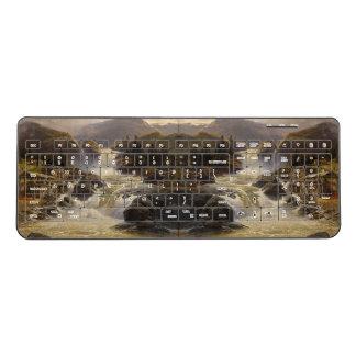 Waterfall River Watermill Alps Wireless Keyboard