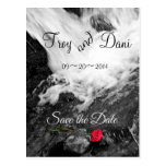 Waterfall & Rose - Save the Date Postcard