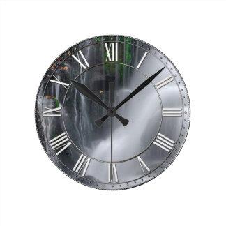 Waterfall Round Clock