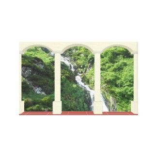 Waterfall Scene Canvas Print