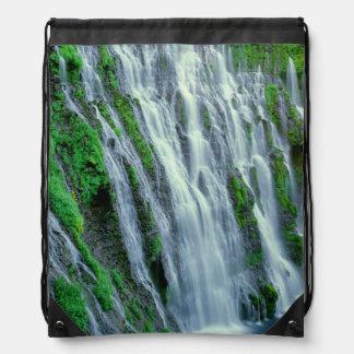 Waterfall scenic, California Drawstring Bag