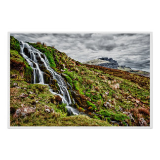 waterfall Scotland mountain poster from 8 99