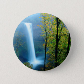 Waterfall South Silver State Park 2 Inch Round Button