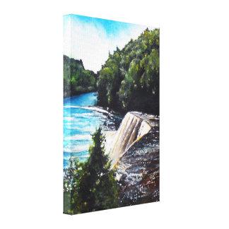Waterfall - Tahquamenon Falls, MI | Canvas Print