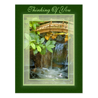 Waterfall Thinking Of You Postcard