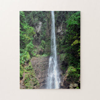 Waterfall Tropical Forest in Dominica. Jigsaw Puzzle