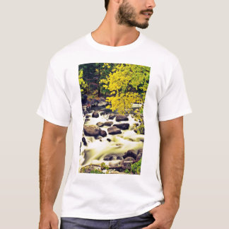Waterfall W/ Fall Colored Trees T-Shirt