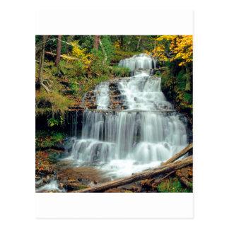 Waterfall Wagner Alger County Michigan Postcard