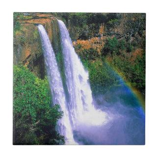 Waterfall Wailua Kauai Hawaii Tile