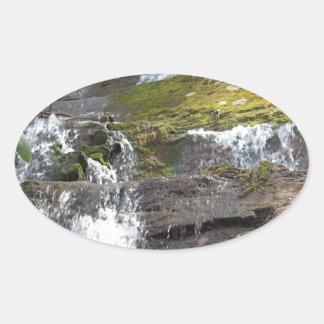 waterfall wear oval sticker