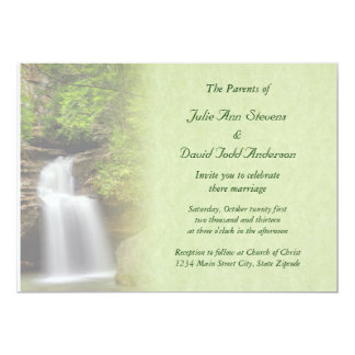 Waterfall Wedding Card