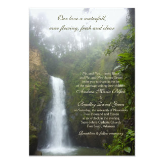 Waterfall Wedding Invitation
