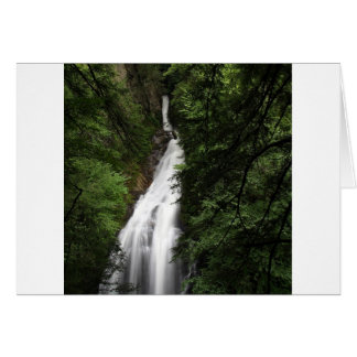 Waterfall White Flowing Torrent Card