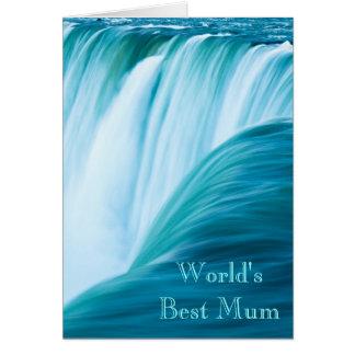 Waterfall World's Best Mum Card