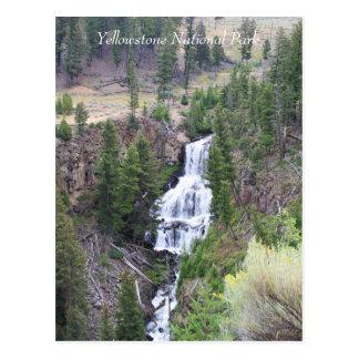 Waterfall, Yellowstone National Park, Postcard