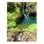 Waterfalls along the Road to Hana, Maui, Hawaii Post Cards