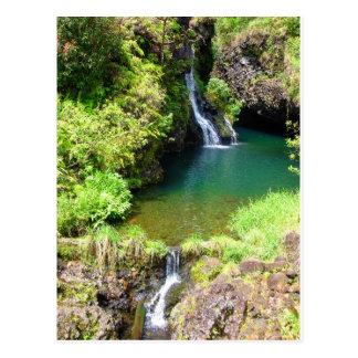 Waterfalls along the Road to Hana, Maui, Hawaii Postcard