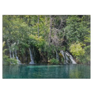 Waterfalls at Plitvice National Park in Croatia Cutting Board