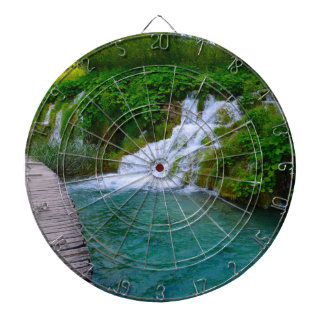 Waterfalls at Plitvice National Park in Croatia Dartboard