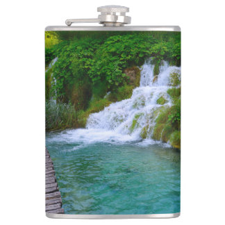 Waterfalls at Plitvice National Park in Croatia Flasks