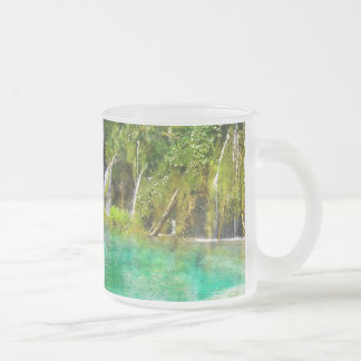 Waterfalls at Plitvice National Park in Croatia Frosted Glass Coffee Mug