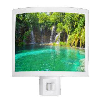 Waterfalls at Plitvice National Park in Croatia Nite Lite