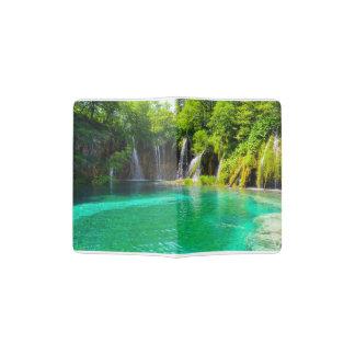 Waterfalls at Plitvice National Park in Croatia Passport Holder