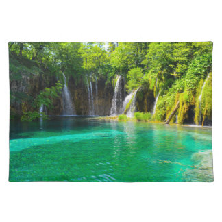 Waterfalls at Plitvice National Park in Croatia Placemats