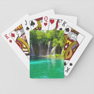 Waterfalls at Plitvice National Park in Croatia Poker Deck