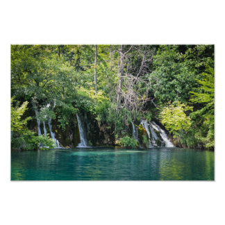 Waterfalls at Plitvice National Park in Croatia Poster