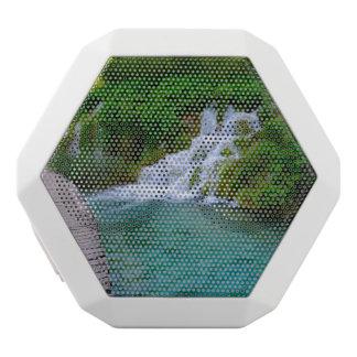 Waterfalls at Plitvice National Park in Croatia White Bluetooth Speaker